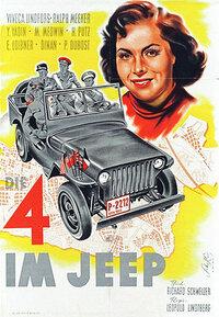Bild Die Vier im Jeep